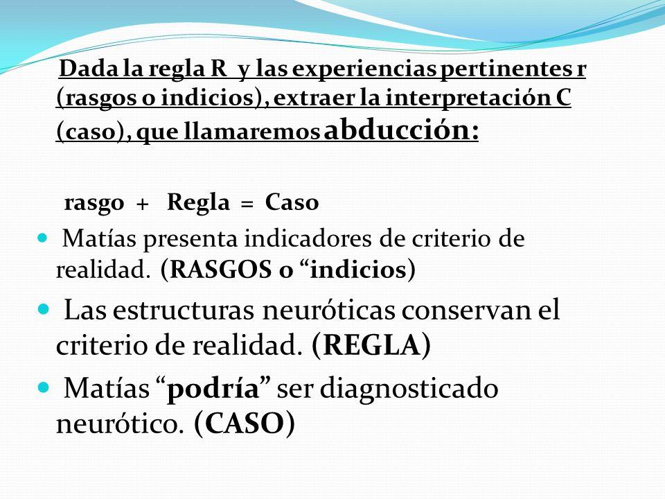 Las estructuras neuróticas conservan el criterio de realidad. (REGLA)