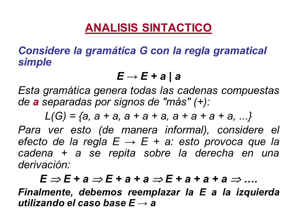 E  E + a  E + a + a  E + a + a + a  ….