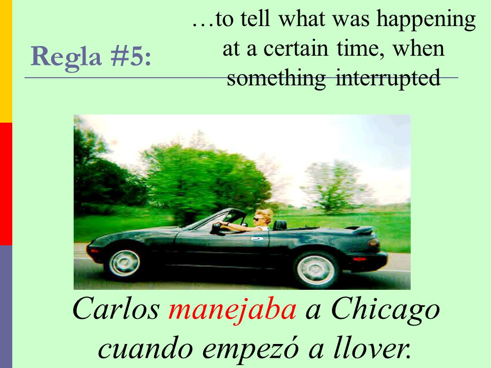 Carlos manejaba a Chicago cuando empezó a llover.
