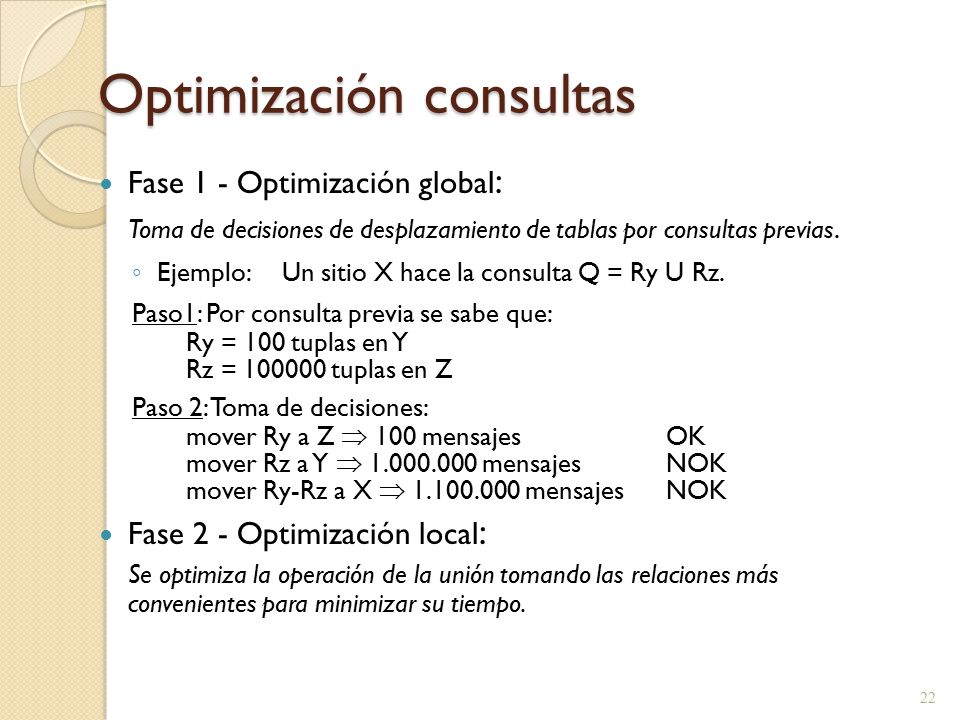 Optimización consultas