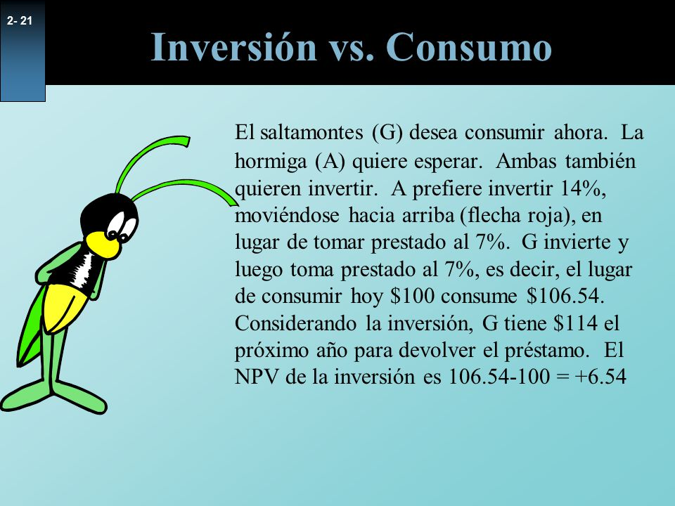 Inversión vs. Consumo