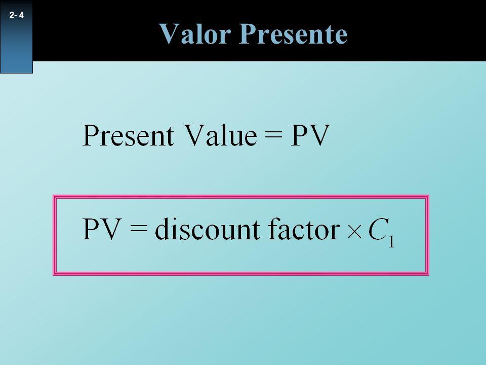 Valor Presente