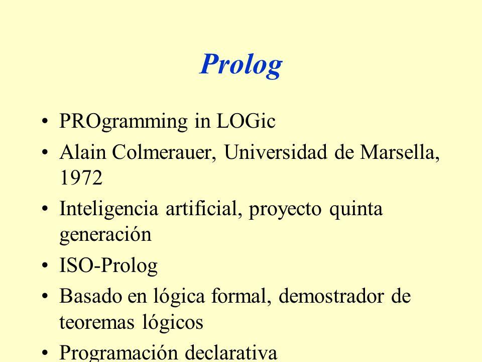 Prolog PROgramming in LOGic