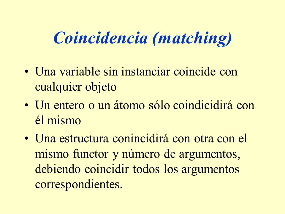 Coincidencia (matching)
