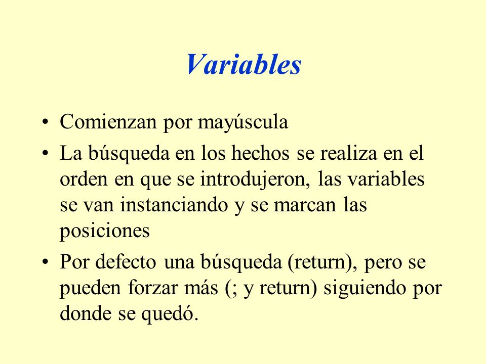 Variables Comienzan por mayúscula