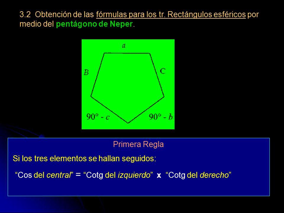 3. 2 Obtención de las fórmulas para los tr