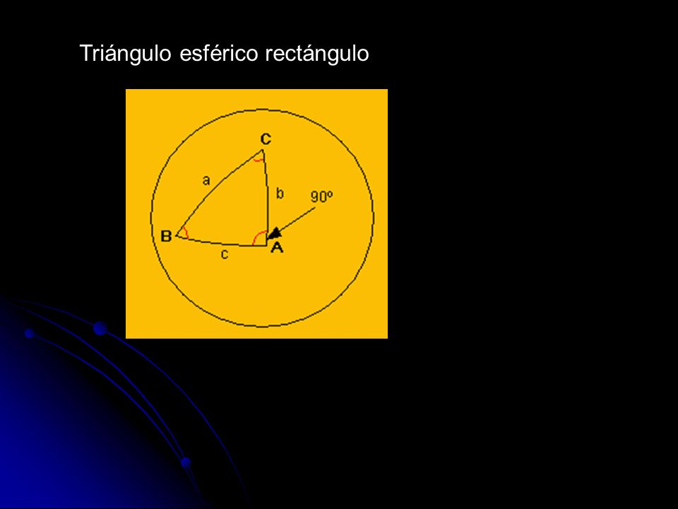 Triángulo esférico rectángulo