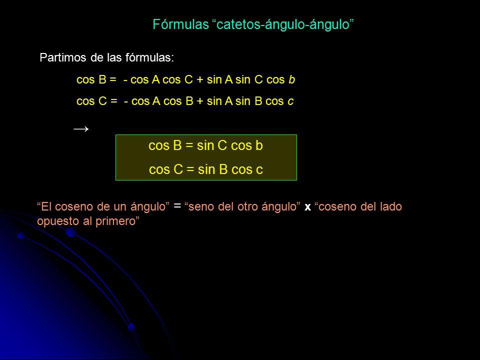 Fórmulas catetos-ángulo-ángulo