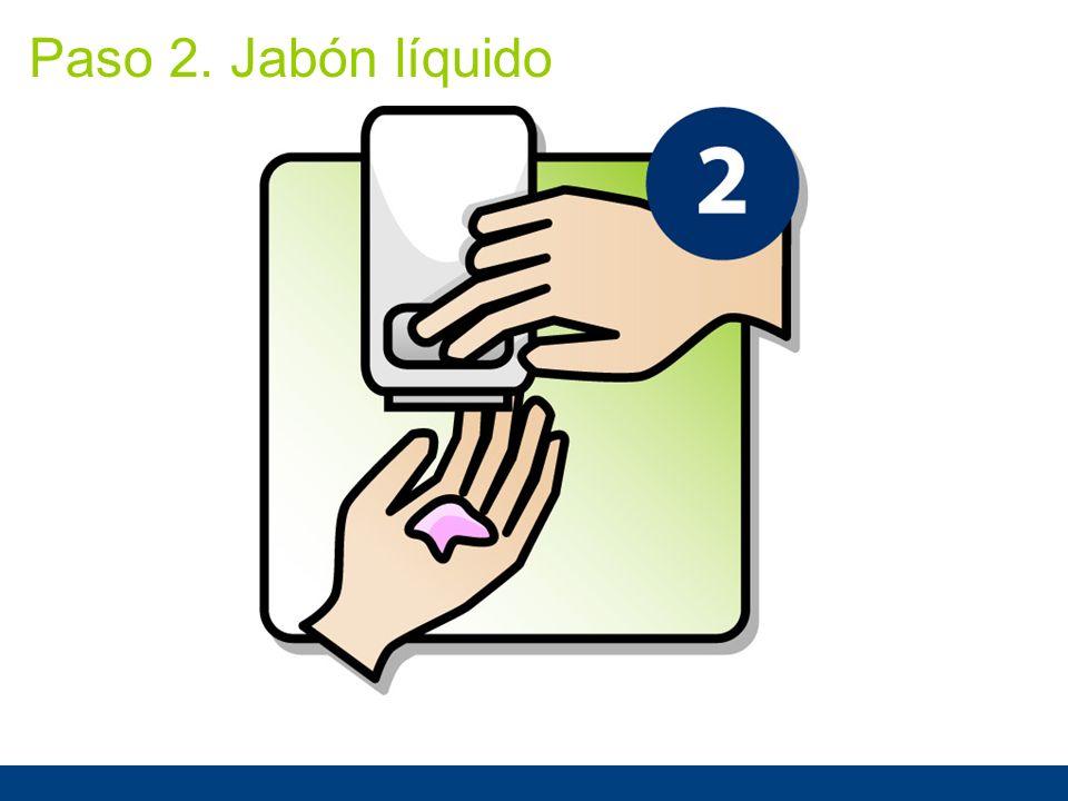 Paso 2. Jabón líquido Paso 2: Use jabón líquido.