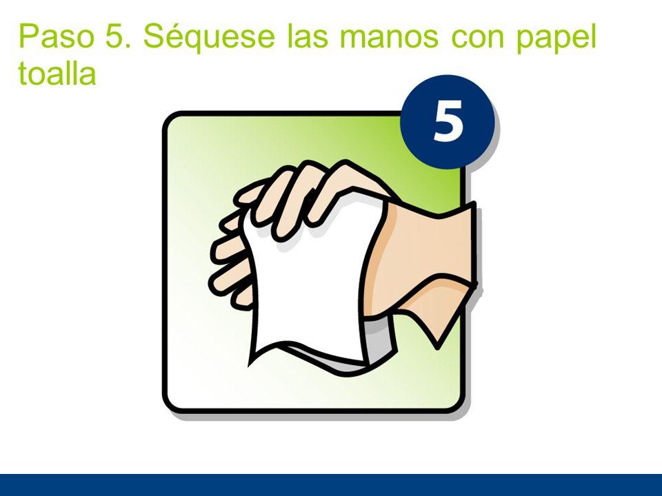 Paso 5. Séquese las manos con papel toalla