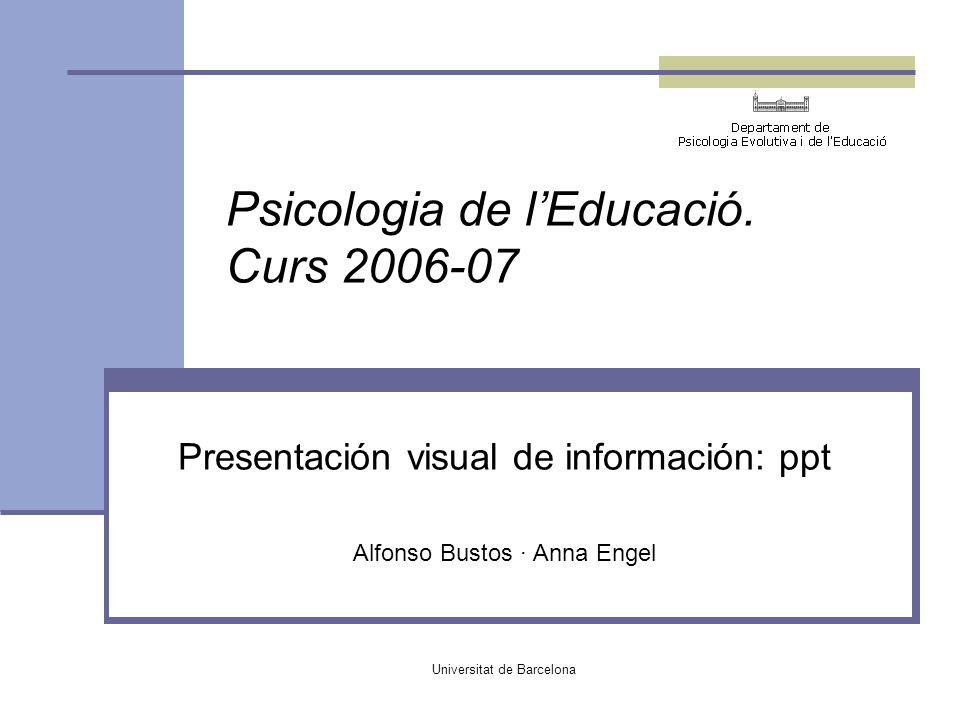 Psicologia de l'Educació. Curs 2006-07