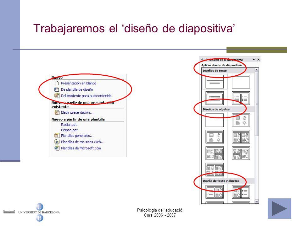 Trabajaremos el 'diseño de diapositiva'