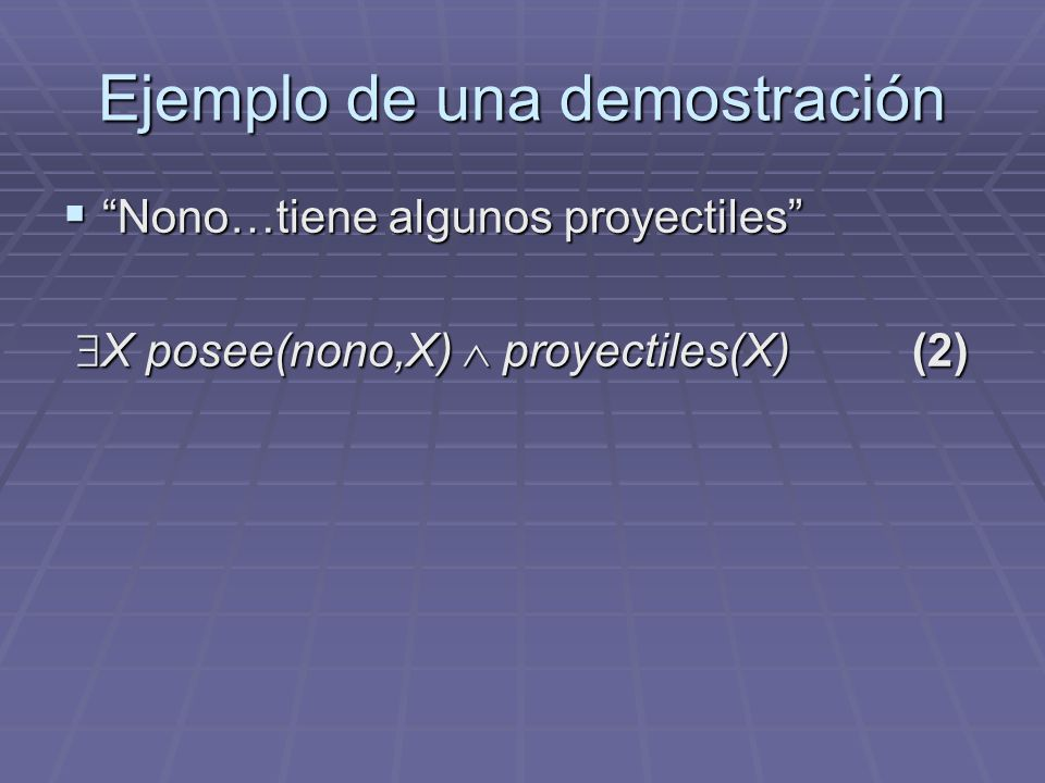 Ejemplo de una demostración