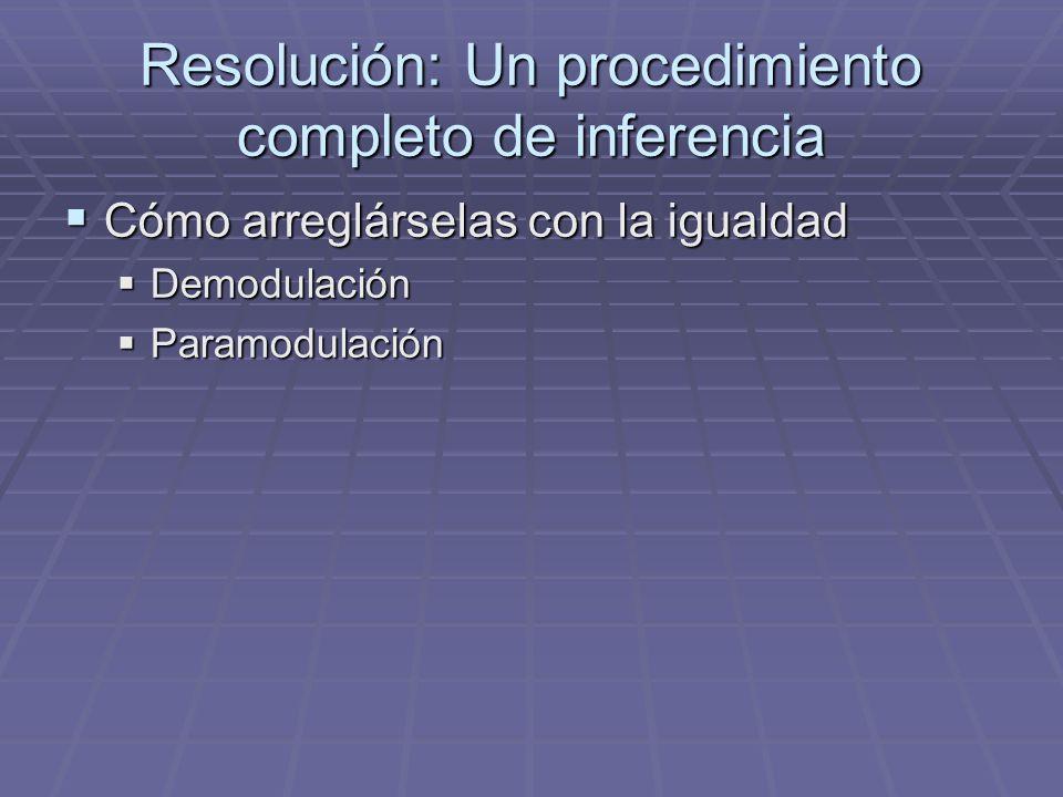 Resolución: Un procedimiento completo de inferencia