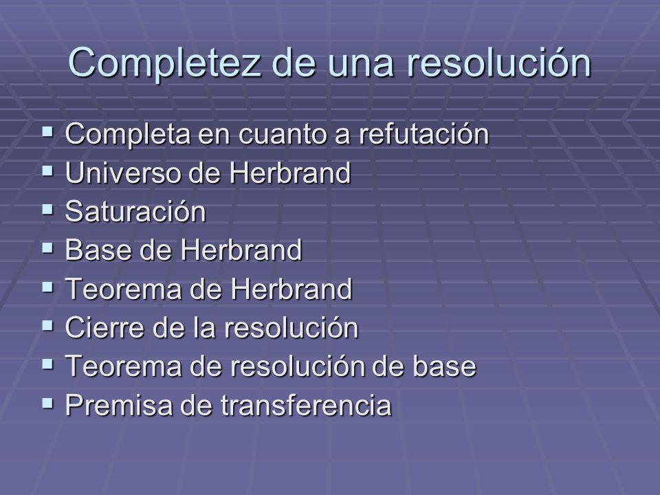 Completez de una resolución