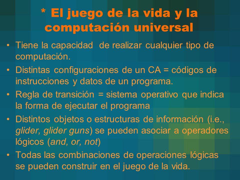 * El juego de la vida y la computación universal