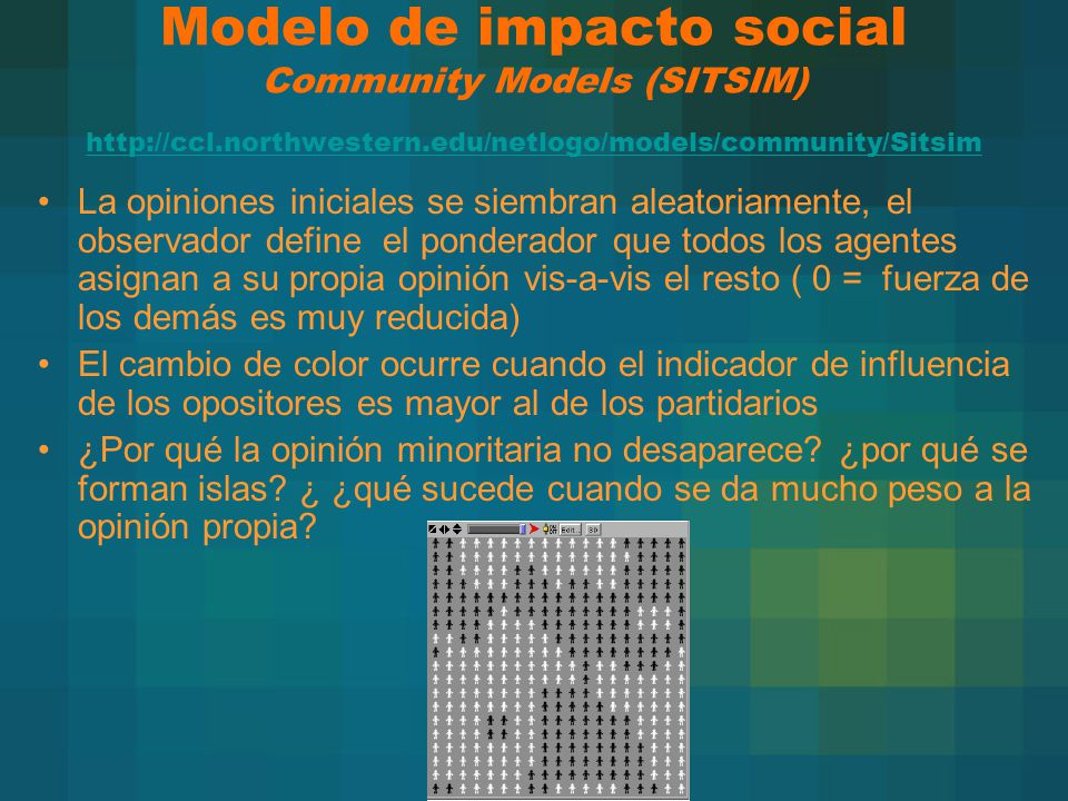 Modelo de impacto social Community Models (SITSIM) http://ccl
