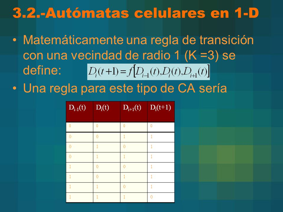 3.2.-Autómatas celulares en 1-D