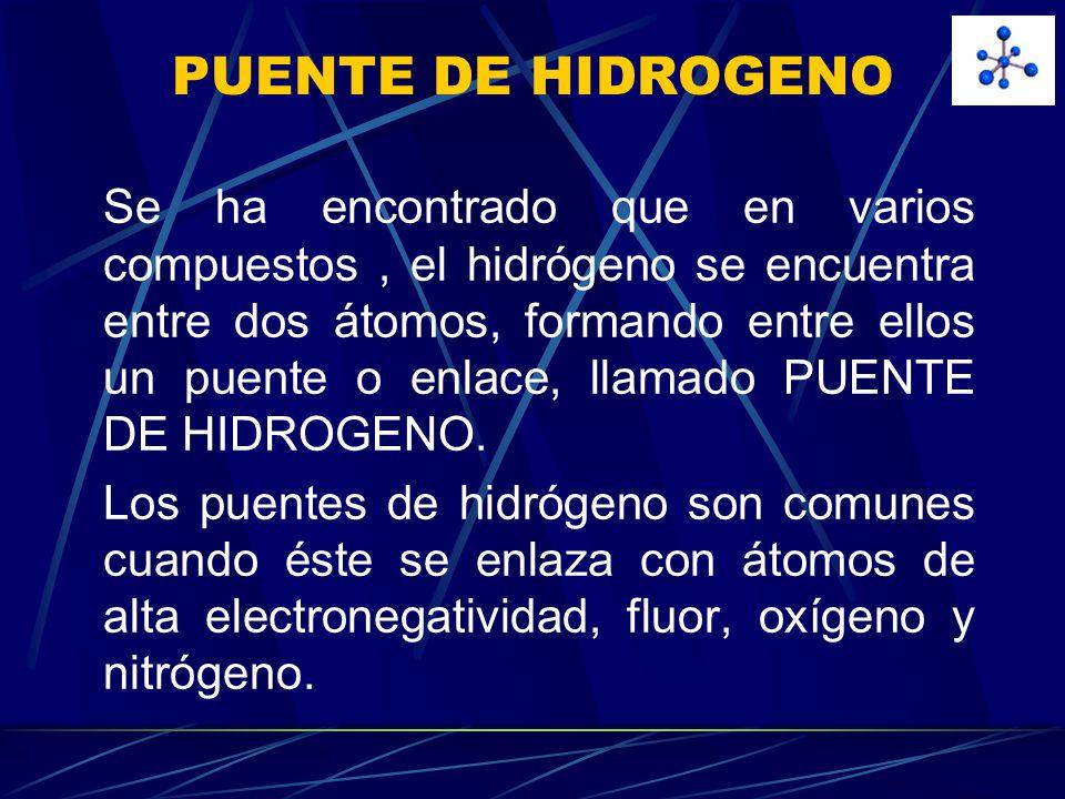 PUENTE DE HIDROGENO
