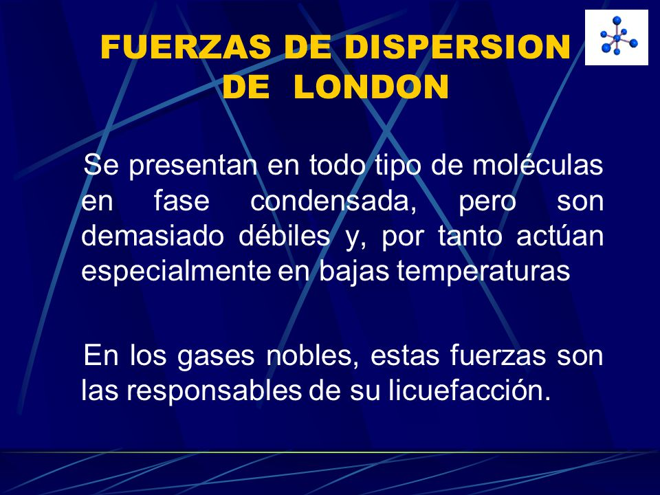 FUERZAS DE DISPERSION DE LONDON