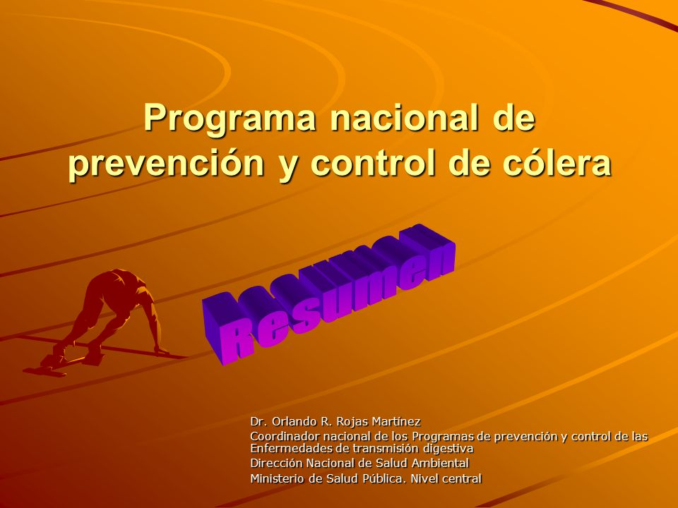 Programa nacional de prevención y control de cólera