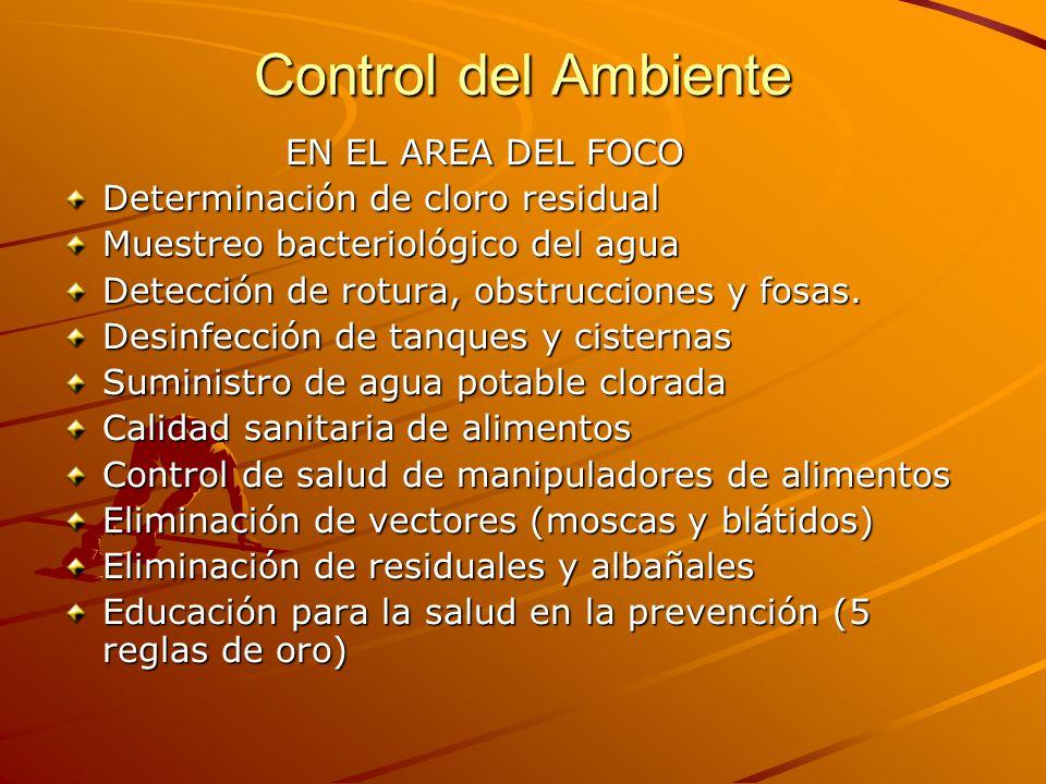 Control del Ambiente EN EL AREA DEL FOCO