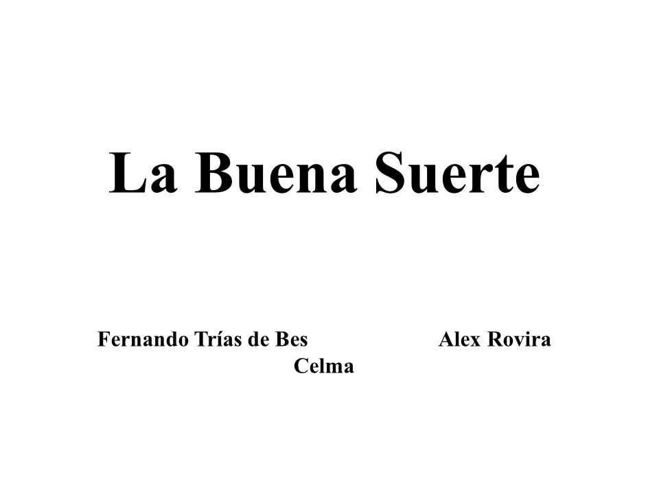 Fernando Trías de Bes Alex Rovira Celma
