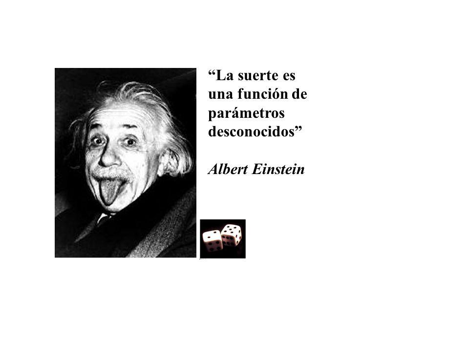 La suerte es una función de parámetros desconocidos