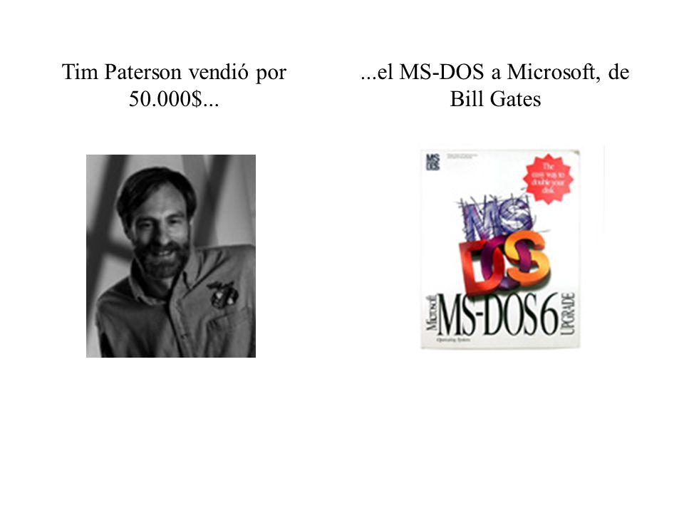 Tim Paterson vendió por 50.000$...