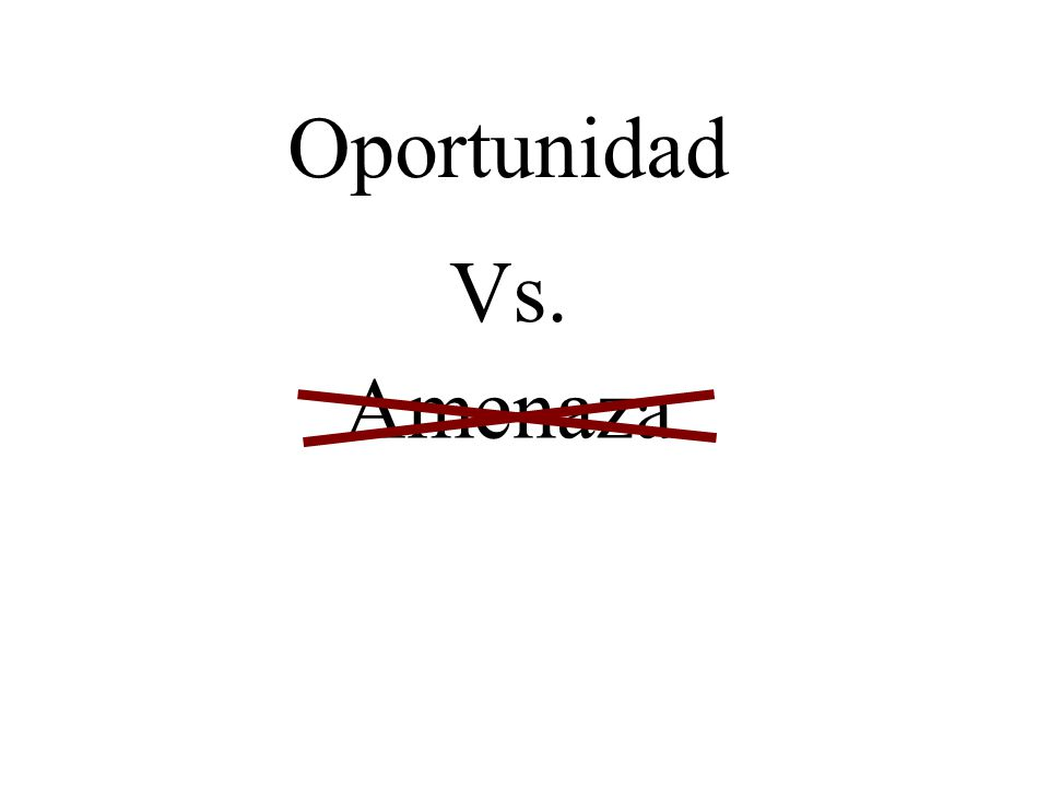 Oportunidad Vs. Amenaza