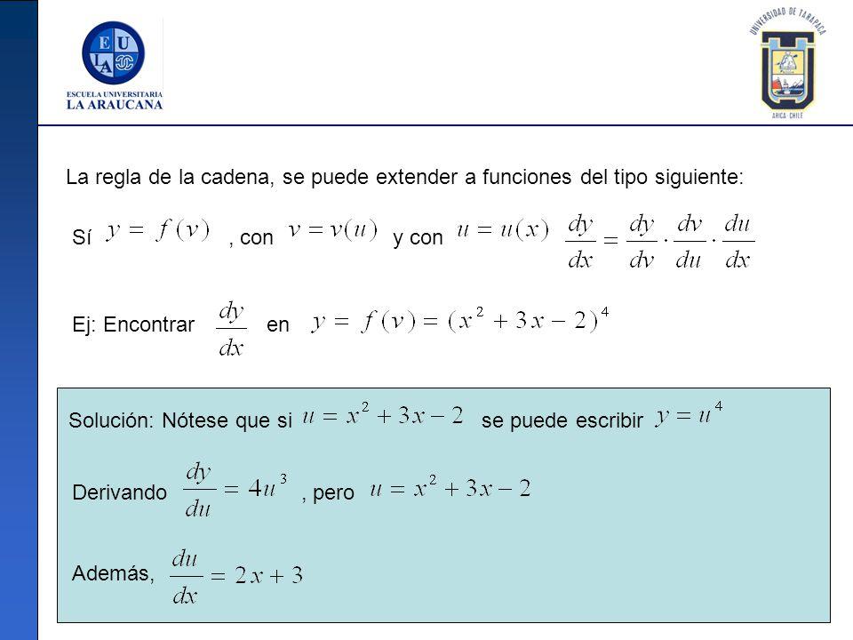 La regla de la cadena, se puede extender a funciones del tipo siguiente: