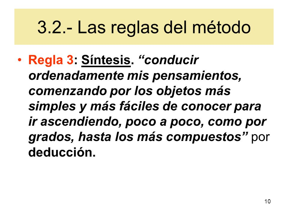 3.2.- Las reglas del método