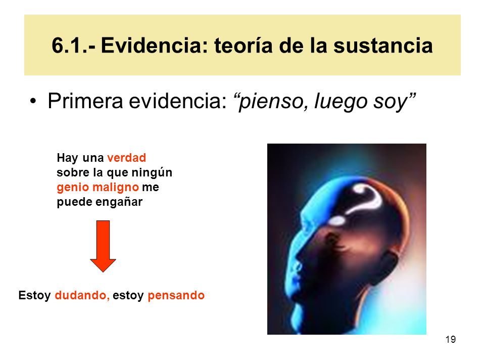 6.1.- Evidencia: teoría de la sustancia