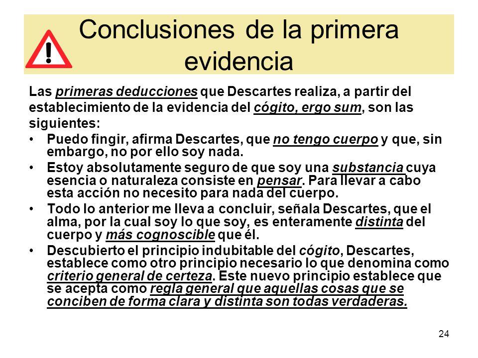 Conclusiones de la primera evidencia