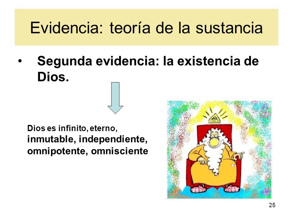 Evidencia: teoría de la sustancia