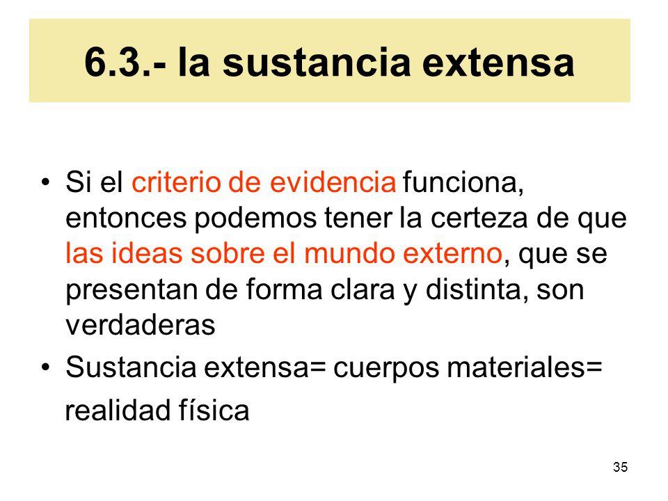 6.3.- la sustancia extensa