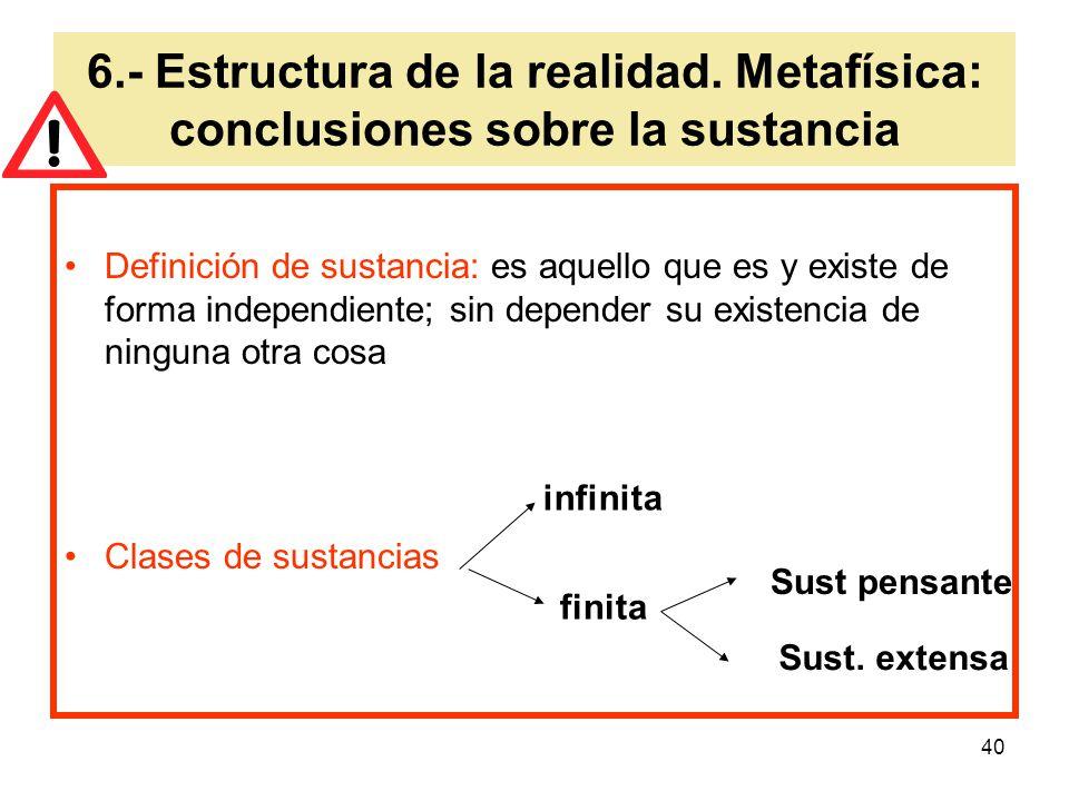 6. - Estructura de la realidad