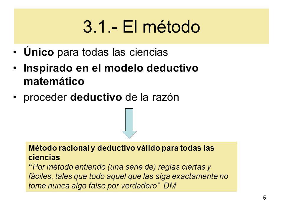 3.1.- El método Único para todas las ciencias