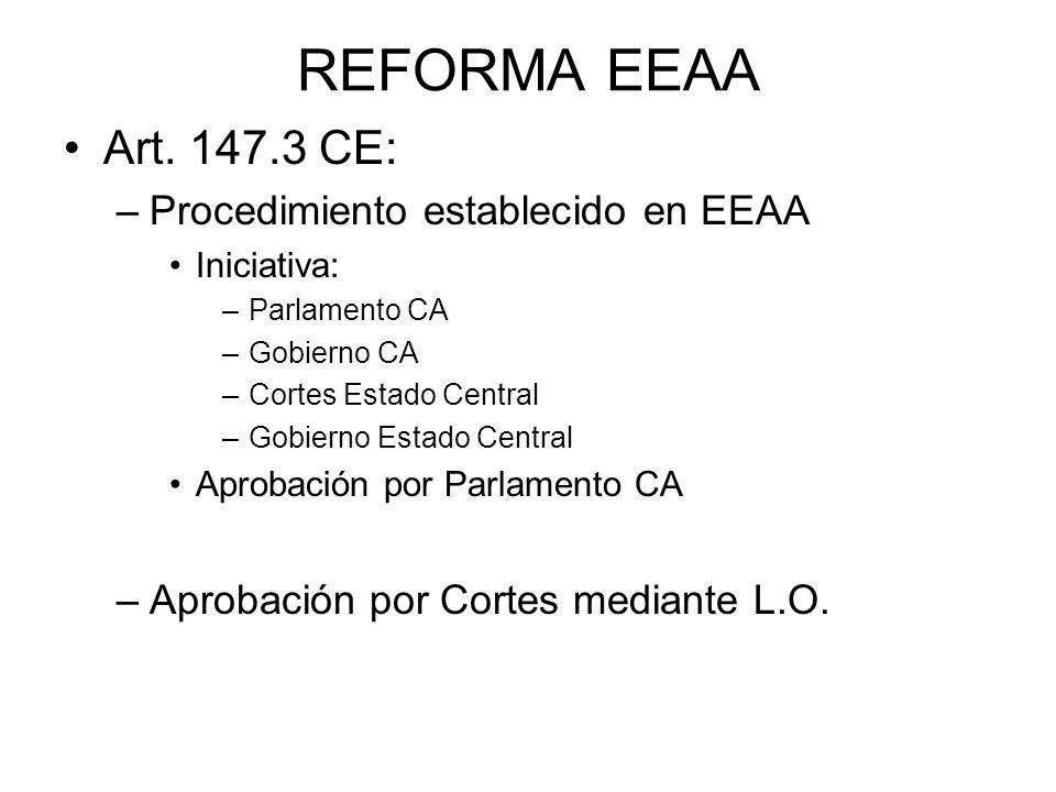 REFORMA EEAA Art. 147.3 CE: Procedimiento establecido en EEAA