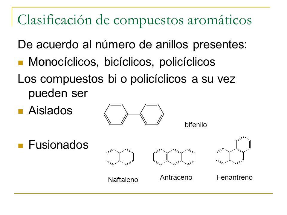 Clasificación de compuestos aromáticos