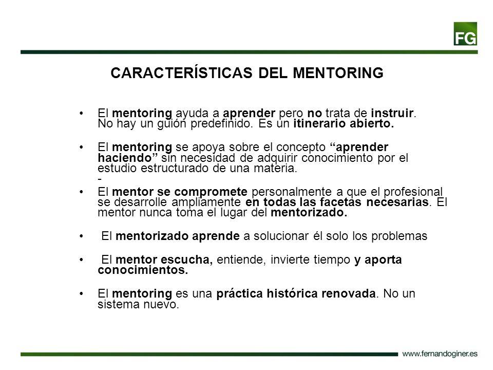 CARACTERÍSTICAS DEL MENTORING