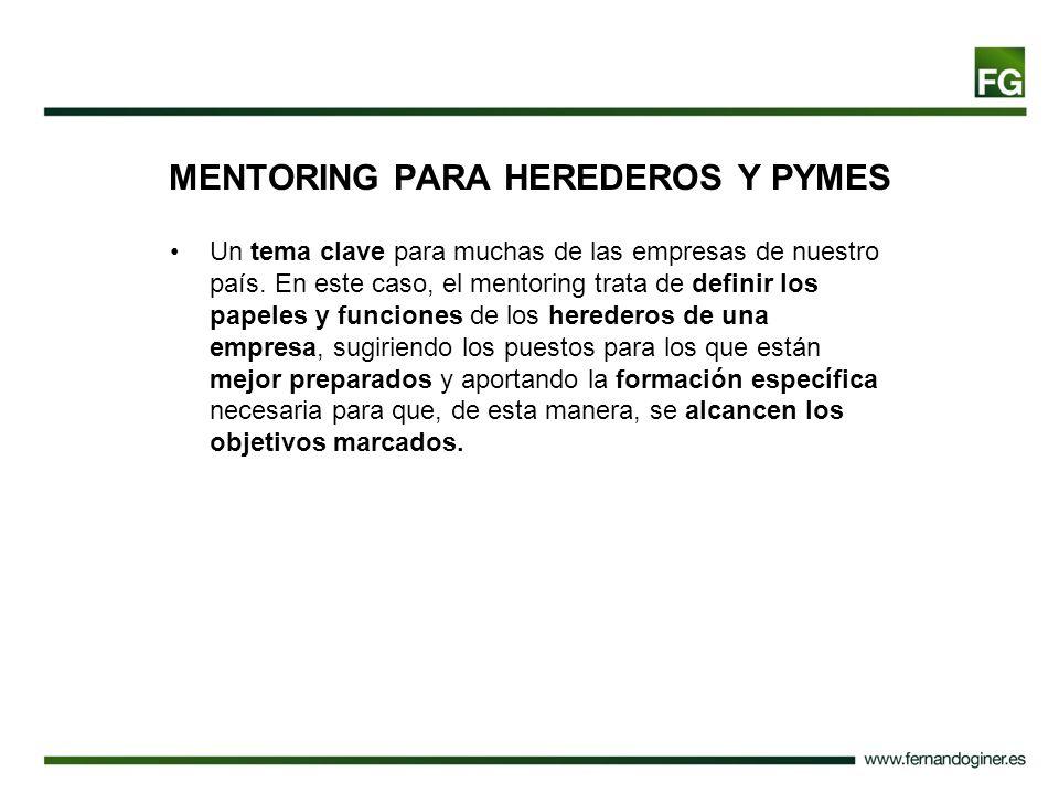 MENTORING PARA HEREDEROS Y PYMES
