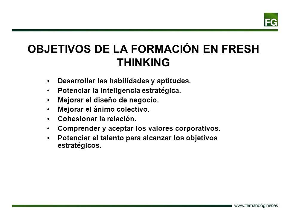 OBJETIVOS DE LA FORMACIÓN EN FRESH THINKING