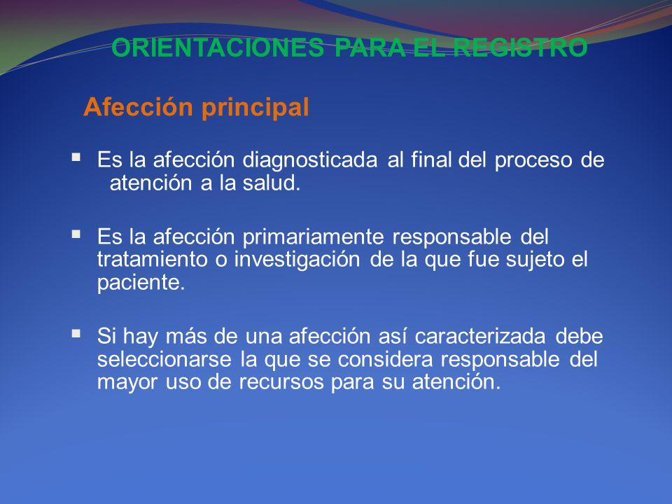 ORIENTACIONES PARA EL REGISTRO