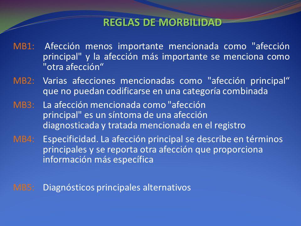 REGLAS DE MORBILIDAD