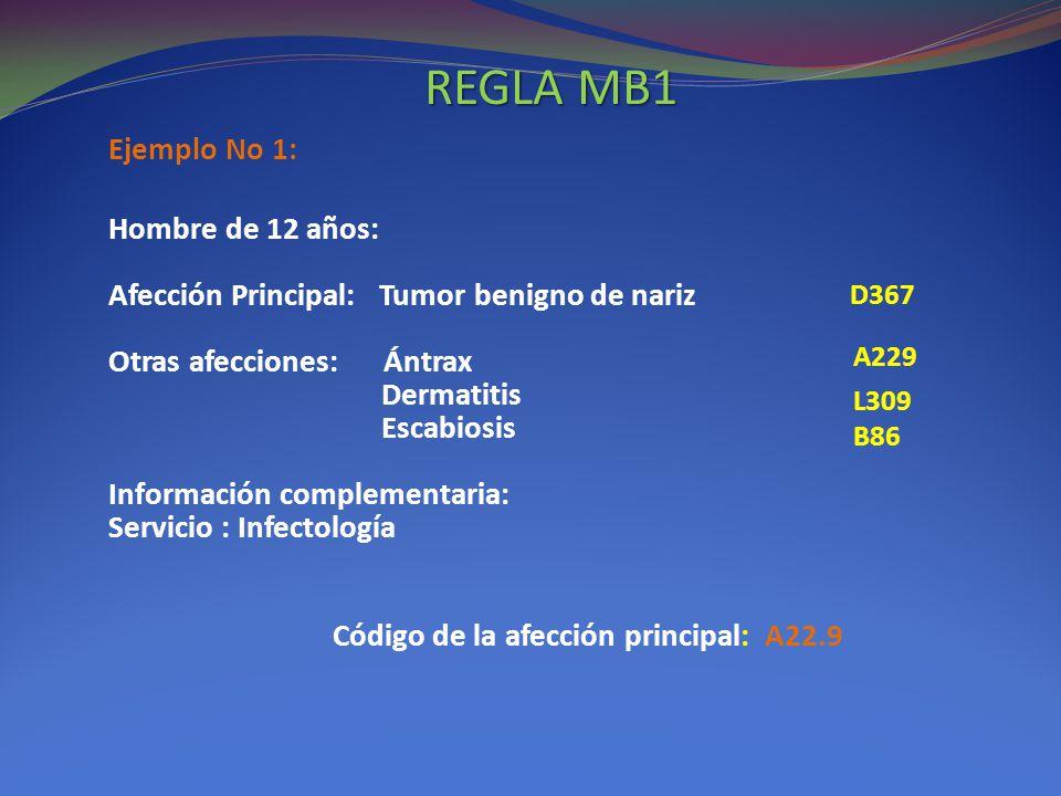 REGLA MB1 Ejemplo No 1: