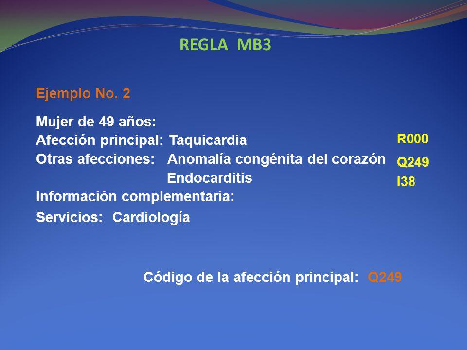 REGLA MB3 Ejemplo No. 2.