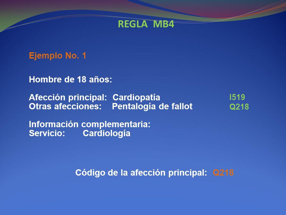 REGLA MB4 Ejemplo No. 1.