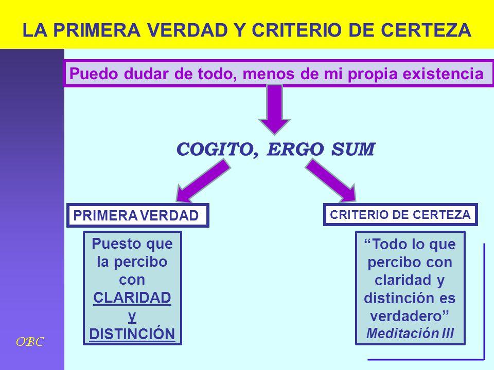 LA PRIMERA VERDAD Y CRITERIO DE CERTEZA