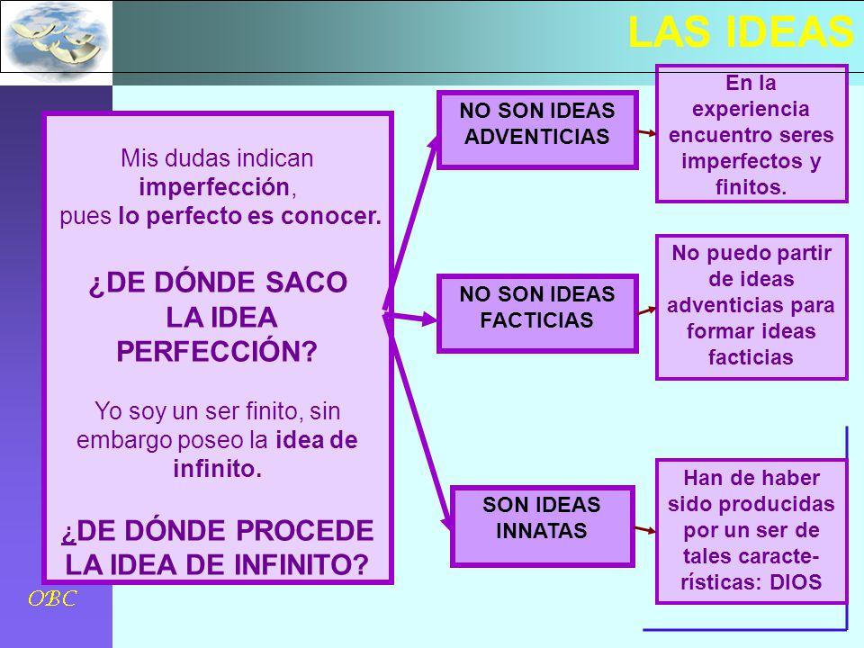 LAS IDEAS ¿DE DÓNDE SACO LA IDEA PERFECCIÓN